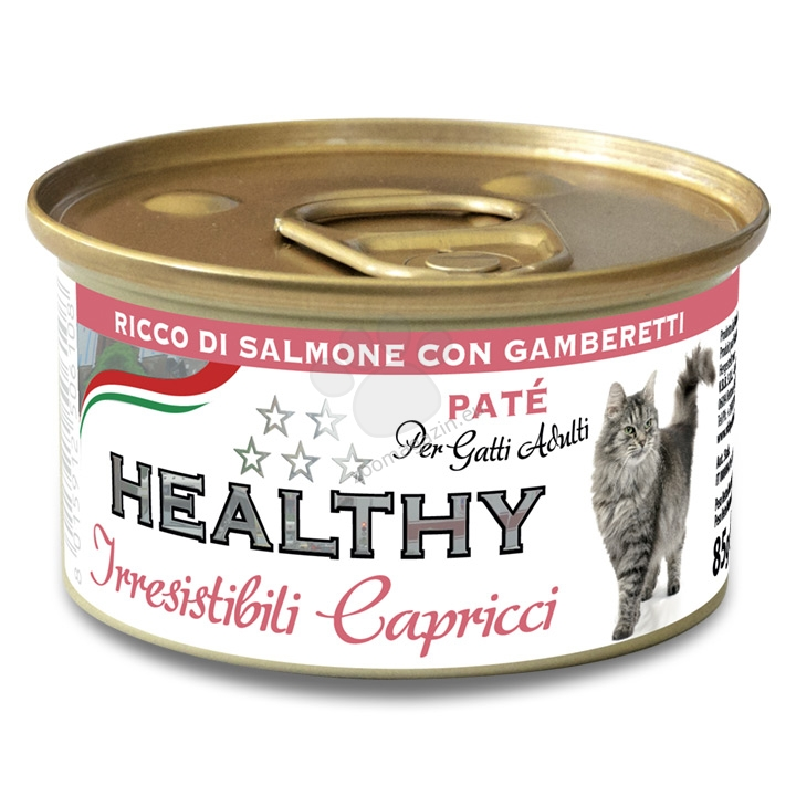 Healty Irresistibili Capricci Pate Rich in Salmon with Shrimps - със сьомга и скариди 85 гр.