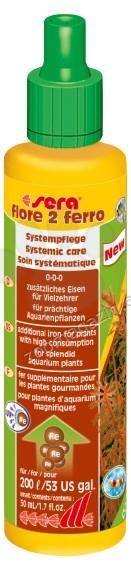 Sera - Flore 2 Ferro - течна добавка с желязо за аквариумни растения 50 мл.