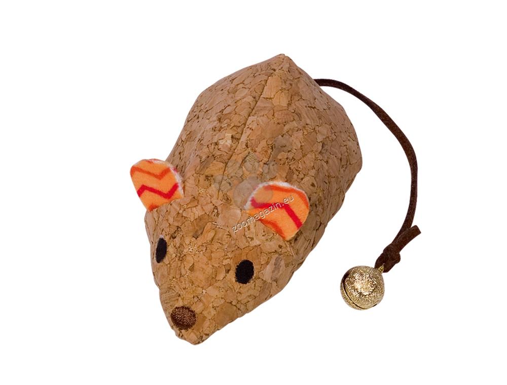 Nobby Cork mouse with catnip - коркова мишка 19 см.