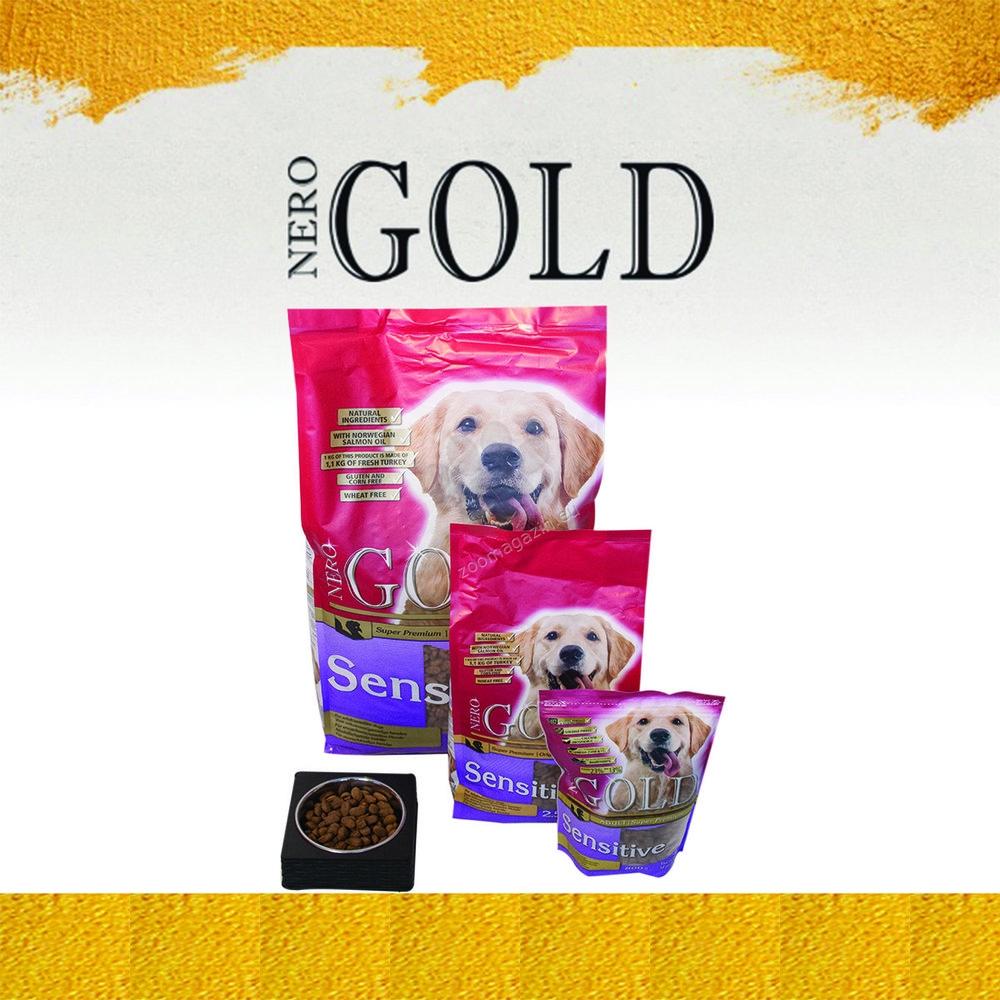 Nero Gold Sensitive - пълноценна хранa за кучета над 12 месечна възраст, с чувствителен стомах и козина, подходяща за всички породи 12 кг.