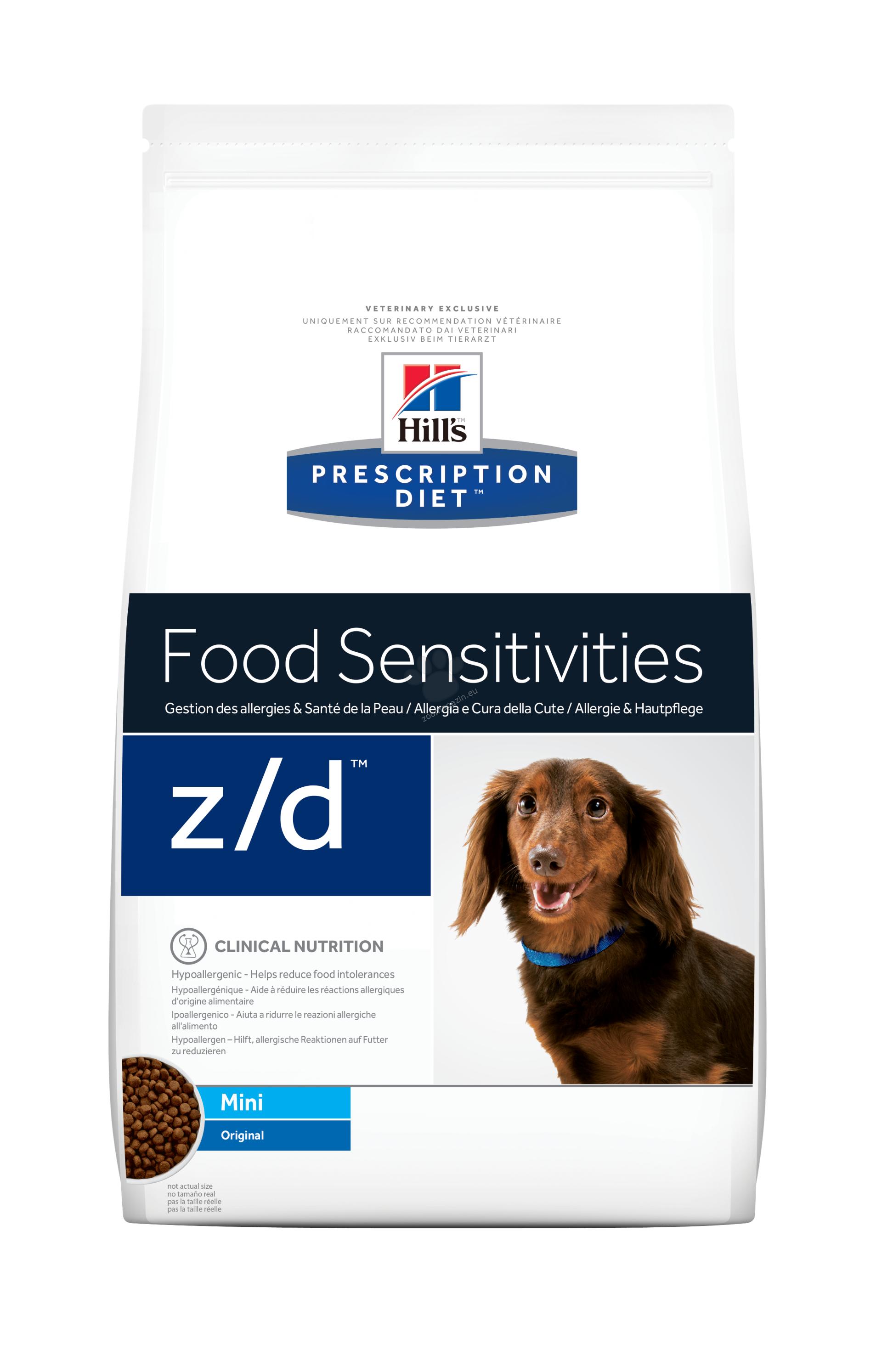 Hills Prescription Diet z/d Мini - хидролизирана диета за кучета до 10 кг с хранителни алергии 1.5 кг.