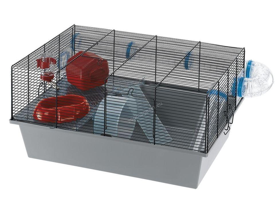 Ferplast - Milos Large - клетка за мишки и хамстери с пълно оборудване 58 / 38 / 30,5 см.