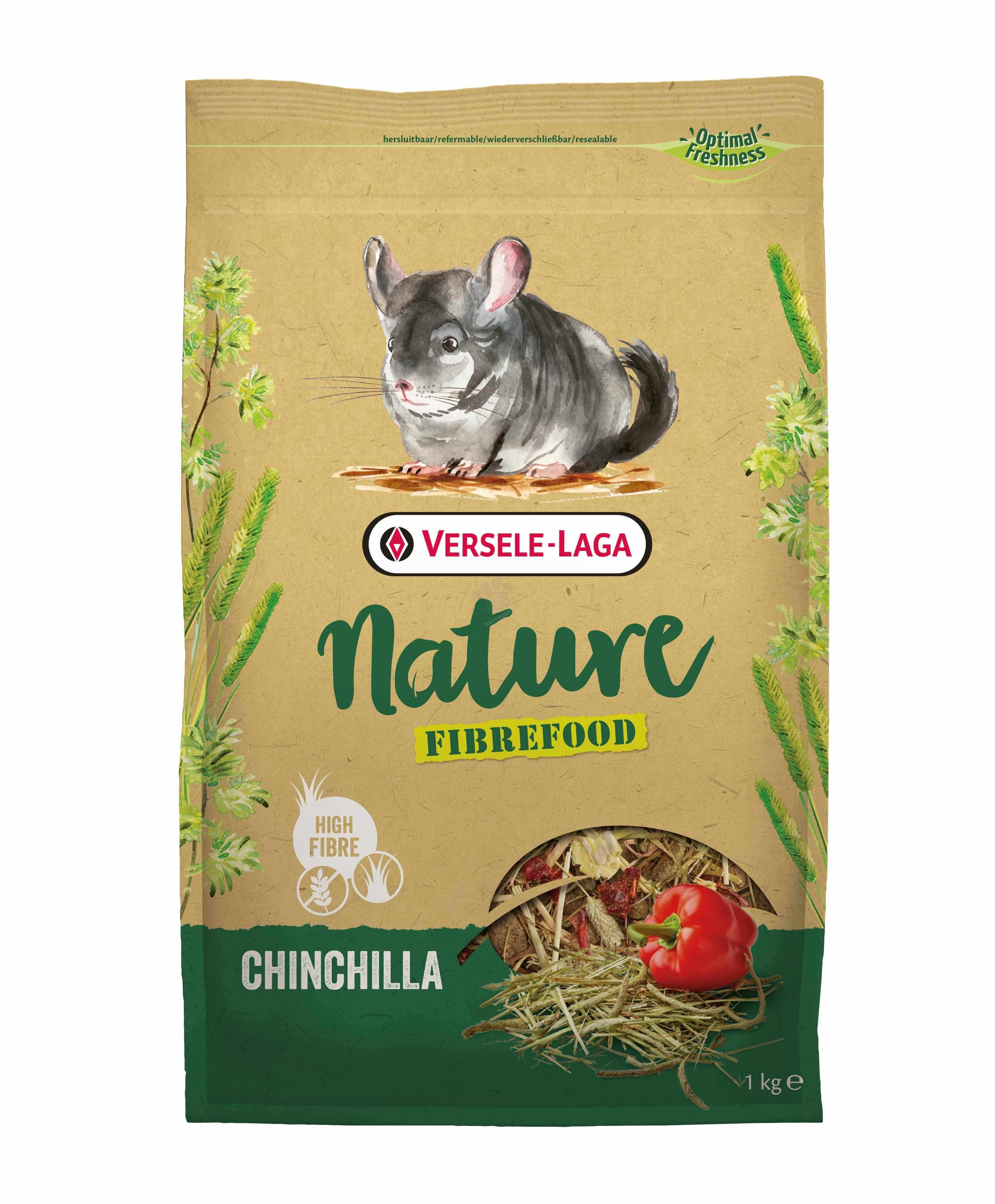 Versele Laga - Fibrefood Chinchilla - пълноценна храна за чинчили - възрастни, капризни и живеещи у дома 1 кг.