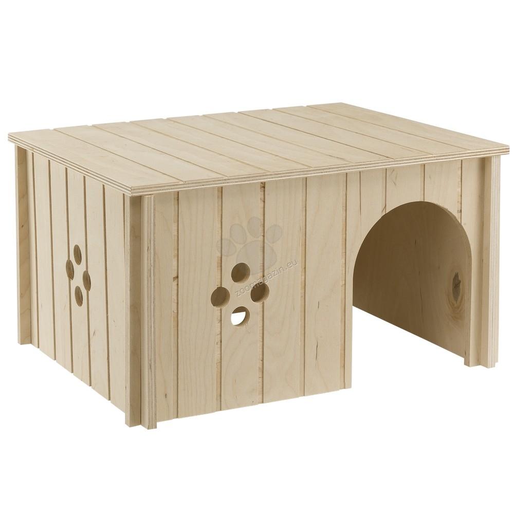 Ferplast  - sin4647 - дървена къщичка за малки животни 37 / 27.7 / 20 cm.