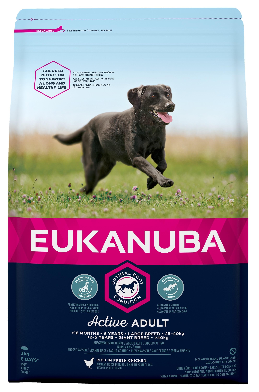 Eukanuba Adult Large - за кучета едри и гигантски породи над 26 кг., и възраст над 18 месеца 3 кг.