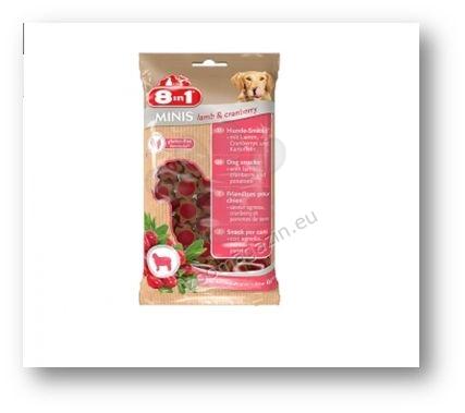 8in1 Minis Lamb and Cramberry - деликатесно лакомство с агнешко месо и боровинки 100 гр.