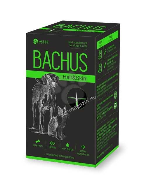 Bachus Hair&Skin - заздравява козината и структурата, и функцията на кожата отвътре 60 таблетки