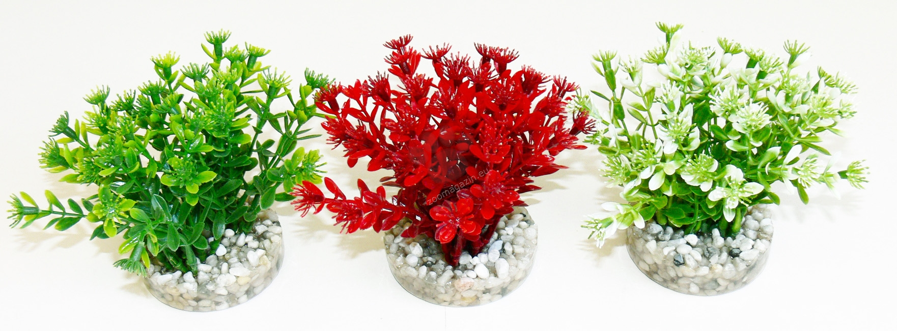 Sydeco Nano Flowering Bush 10 см. / зеленo, червенo, бялo /