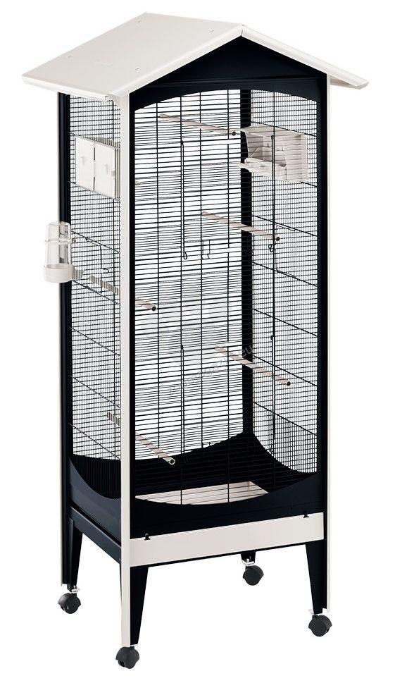 Ferplast - Brio Mini - волиера за малки птички с пълно оборудване 60.5 / 73.5 / 160 см.