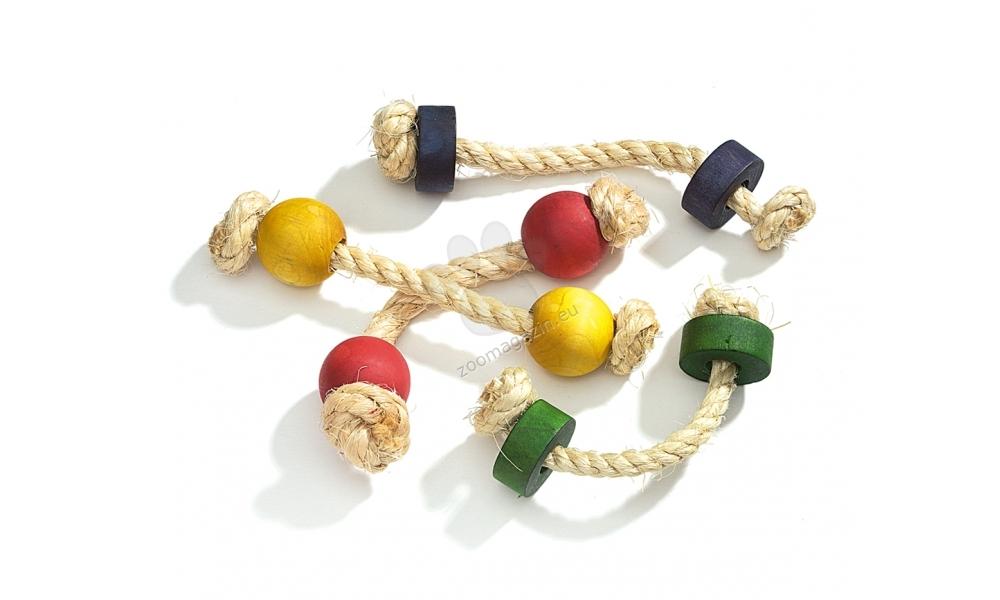 Camon Miki wooden chews - дървена играчка с въже за гризачи