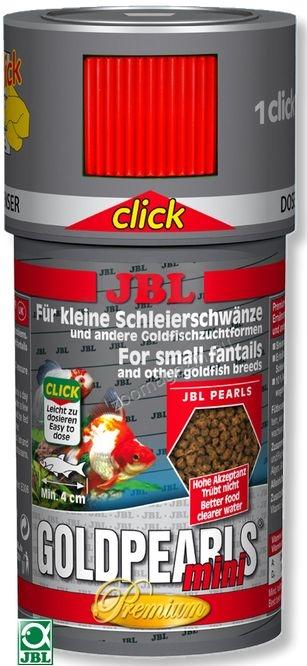 JBL Premium Gold Pearls mini Click - храна с дозатор, за малки златни рибки 100 мл.