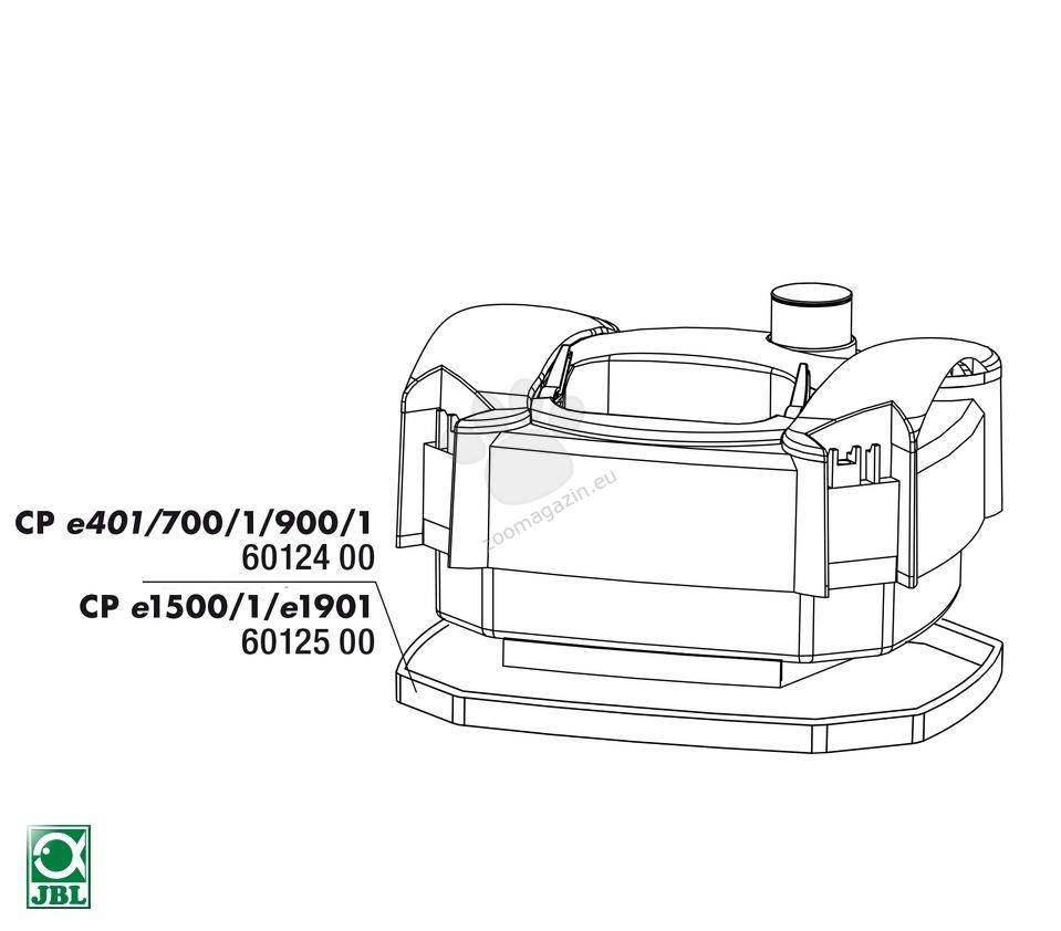 JBL CP e 1500/1 Pump head rubber gasket - уплътнение за външен филтър Cristal Profi e1500/1501