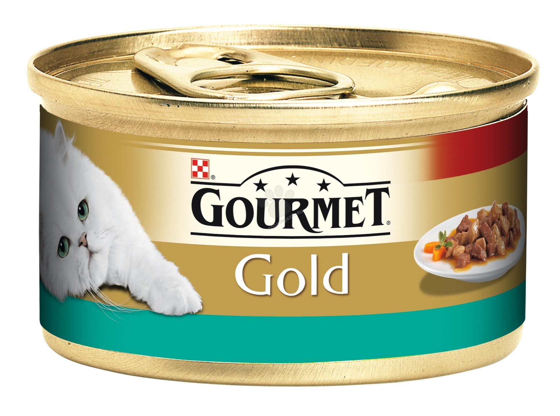 Gourmet Gold Morsels in Sauce Salmon Chicken - месни хапки в сос сьомга и пиле  85 гр