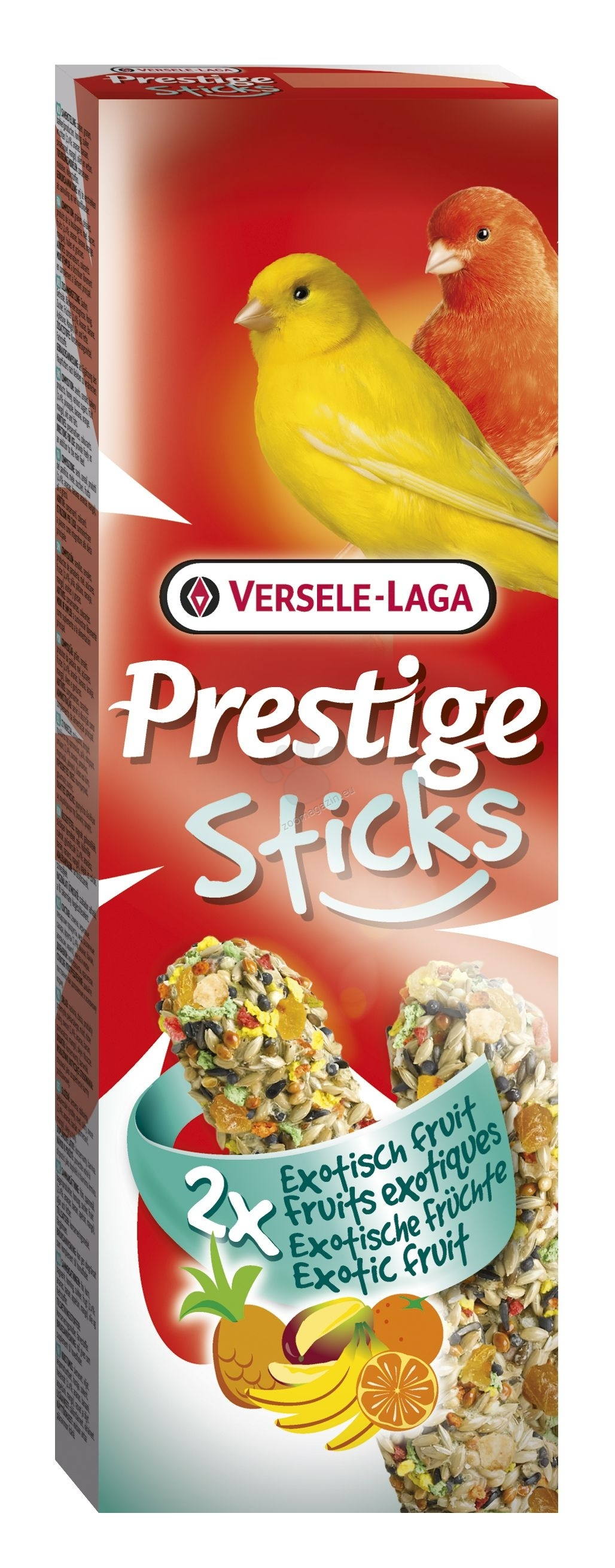 Versele Laga - Prestige Sticks Canaries Exotic Fruit - стик за канари с екзотични плодове - 2 / 30 гр.