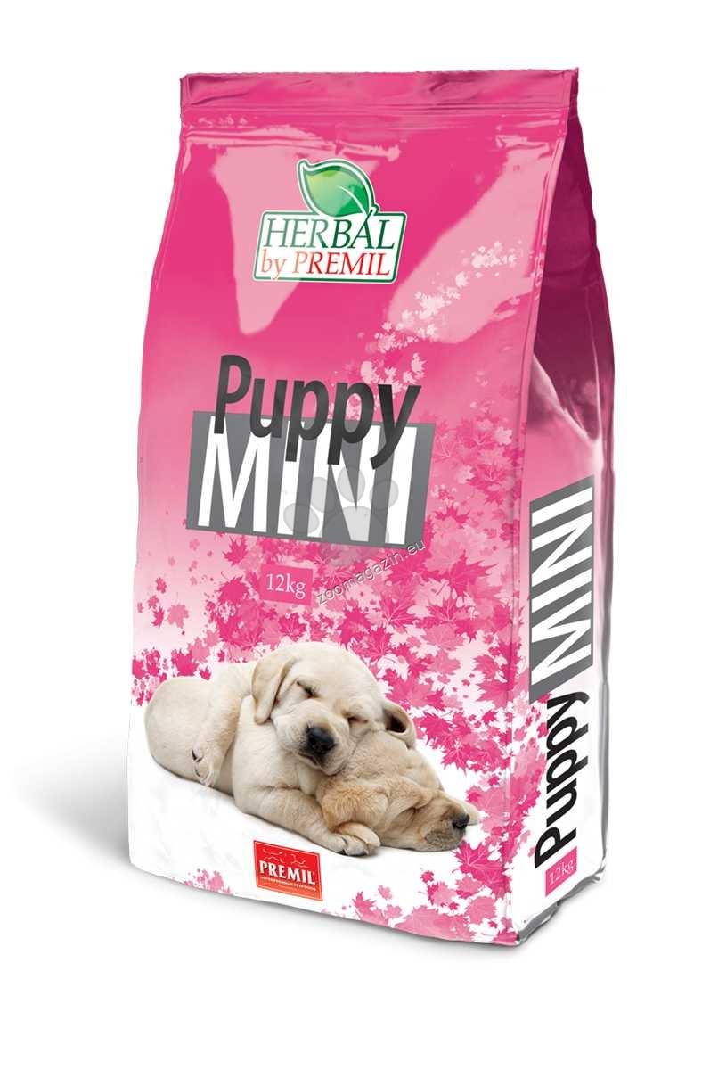 Premil Puppy Mini - пълноценна храна с риба тон, пуешко и патешко месо 12 кг.