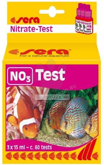 Sera - NO3 Test - тест за бързо и точно определяне на съдържанието на нитрати (NO3) в сладка и солена вода