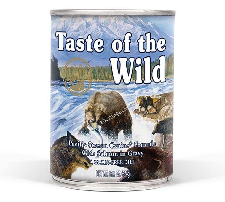 Taste of the Wild Pacific Stream Canine Formula - с прясна сьомга в сос грейви 395 гр.