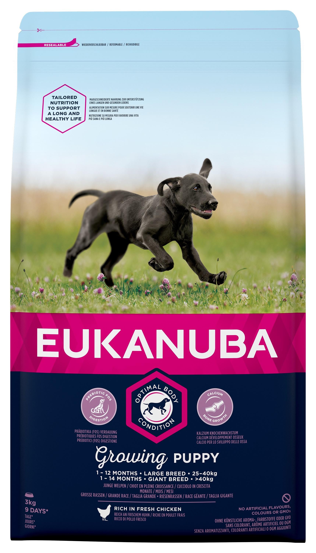 Eukanuba Puppy Chicken Large Breed - за кучета големи и гигантски породи над 26 кг. и възраст от 2 до 24 месеца  3 кг.