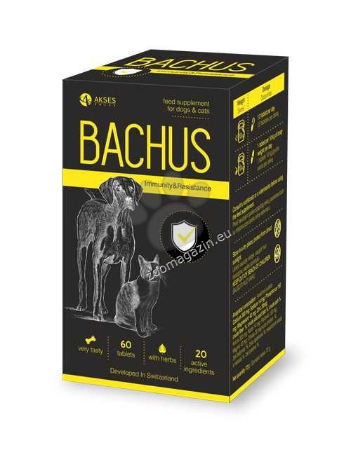 Bachus Immunity&Resistance - подсилват имунитета на животните и способността за адаптация на тялото 60 таблетки