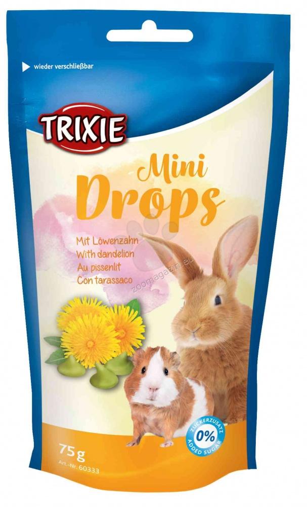Trixie - Mini Drops - деликатесно лакомство с глухарче, за морски свинчета и мини зайчета 70 гр.
