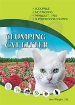 Valenger Clumping Cat Litter Fresh Rose - бентонитова тоалетна с аромат на рози 5 литра