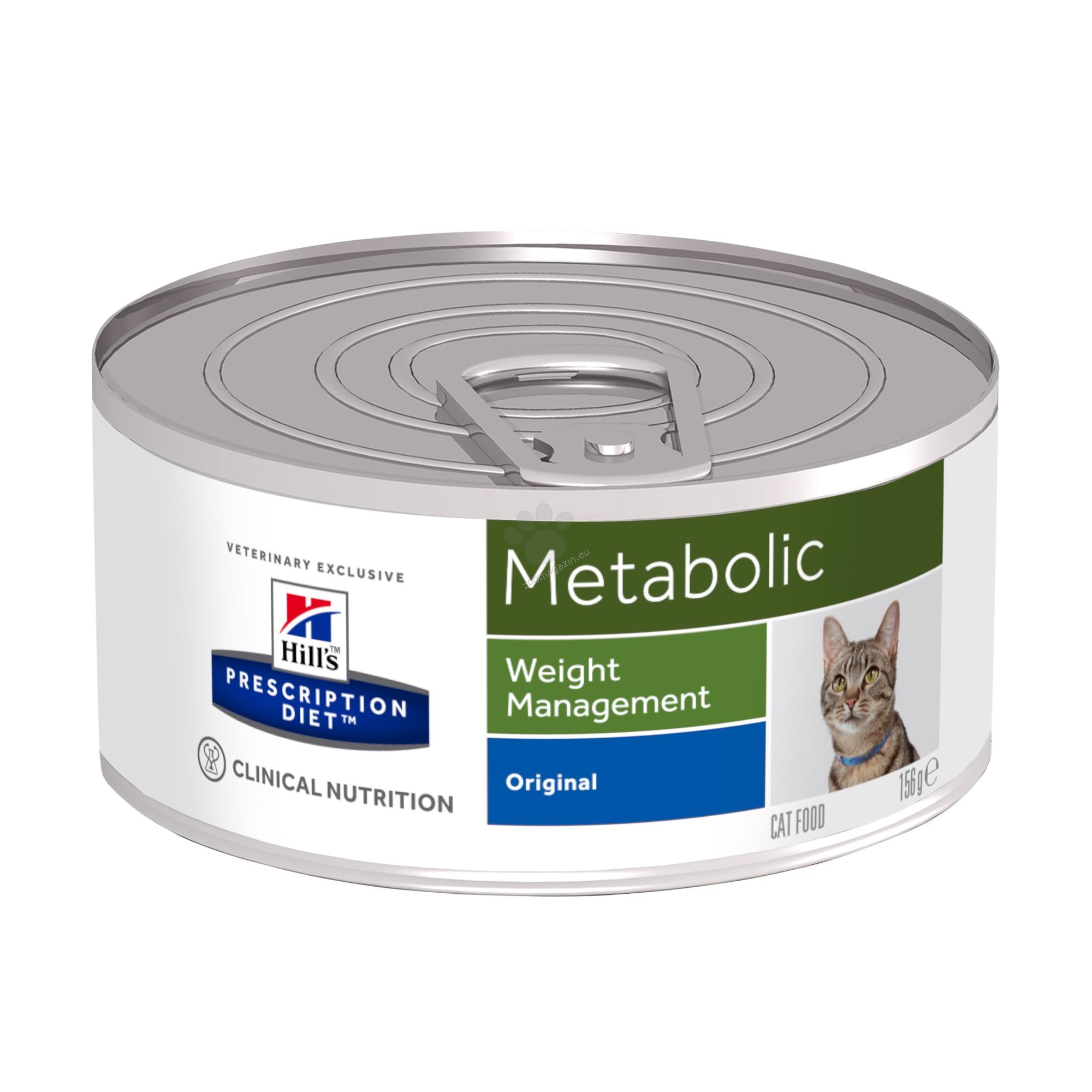 Hills Prescription Diet Metabolic Feline - диета за наднормено тегло при котки 156 гр.