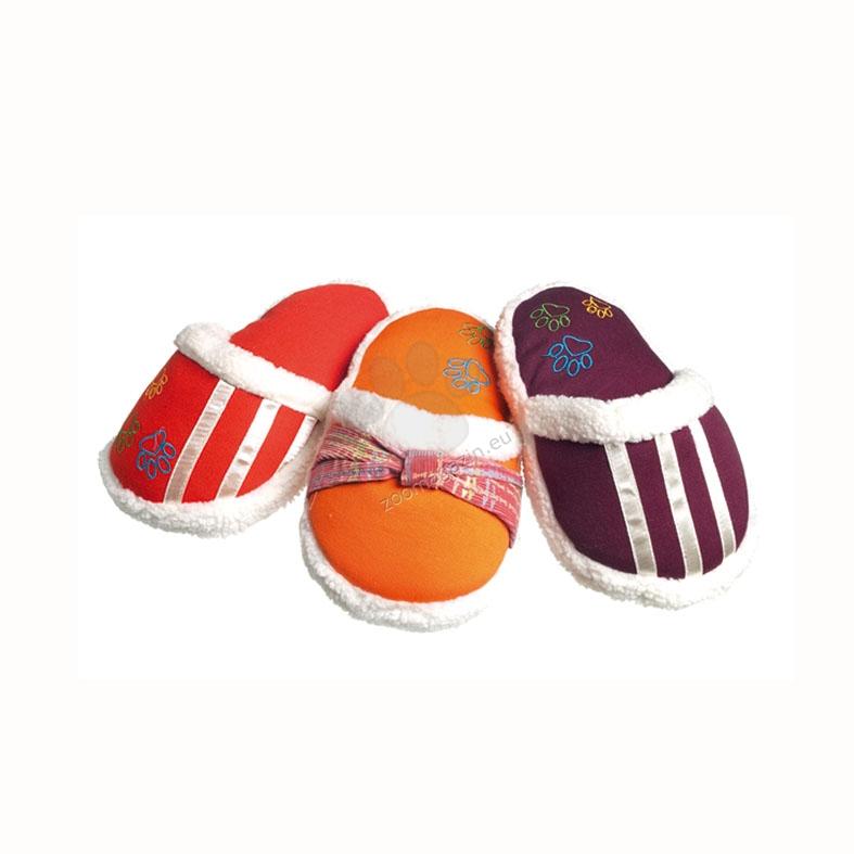 Camon Coloured play slipper - кучешка играчка 17 см. / червена, оранжева, кафява /