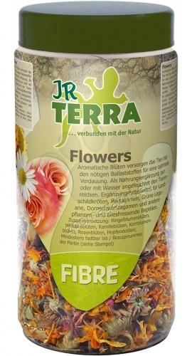 JR Farm Terra Fibre Flowers - цветя, за водни костенурки, брадати гущери, зелени игуани, бодливи гущери  50 грама