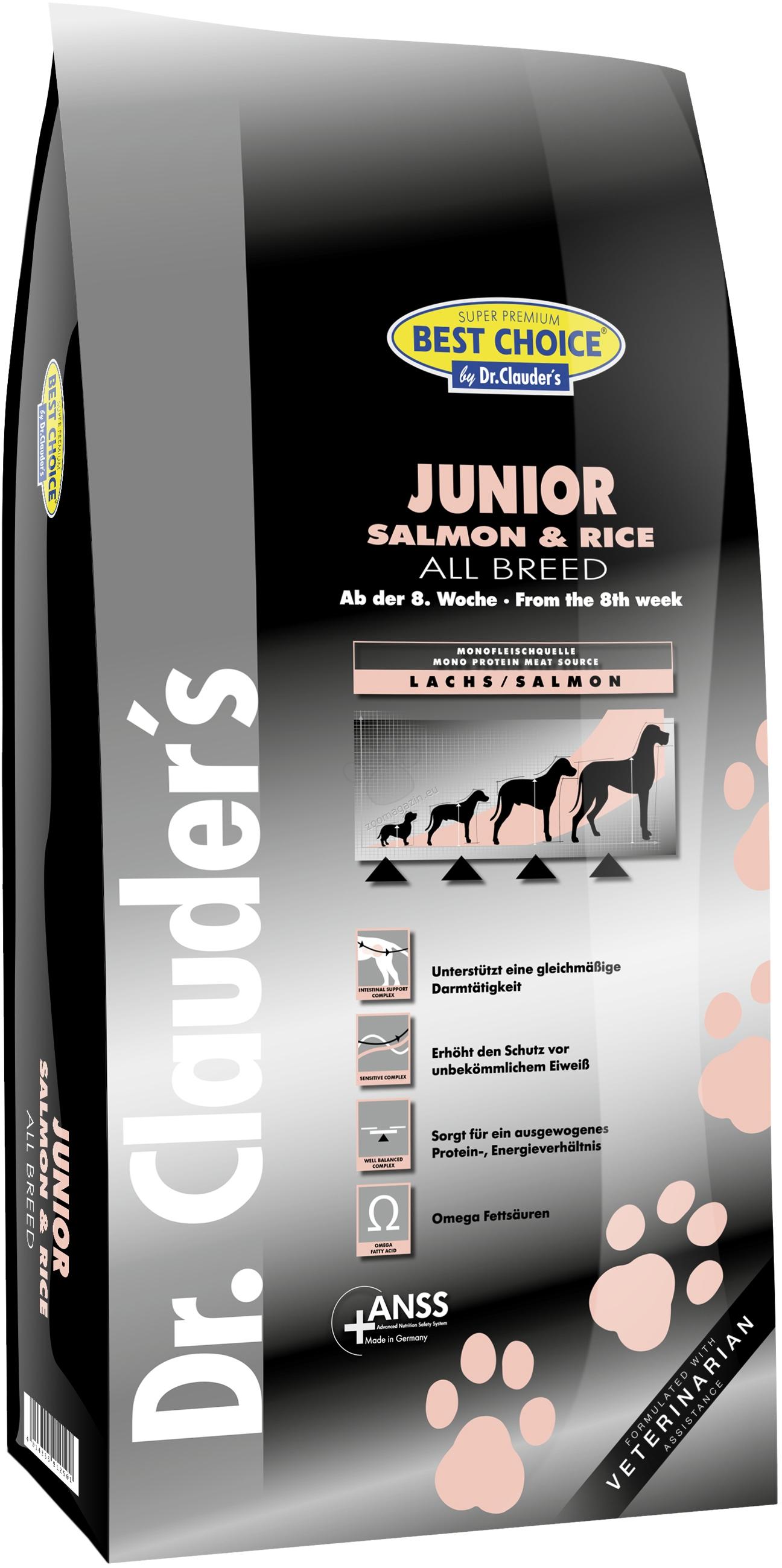 Dr. Clauder Super Premium Mini Breed Junior Salmon & Rice - със сьомга и ориз, за кучета мини и малки породи до 7.5 кг. от 2 до 12 месеца 2 кг.