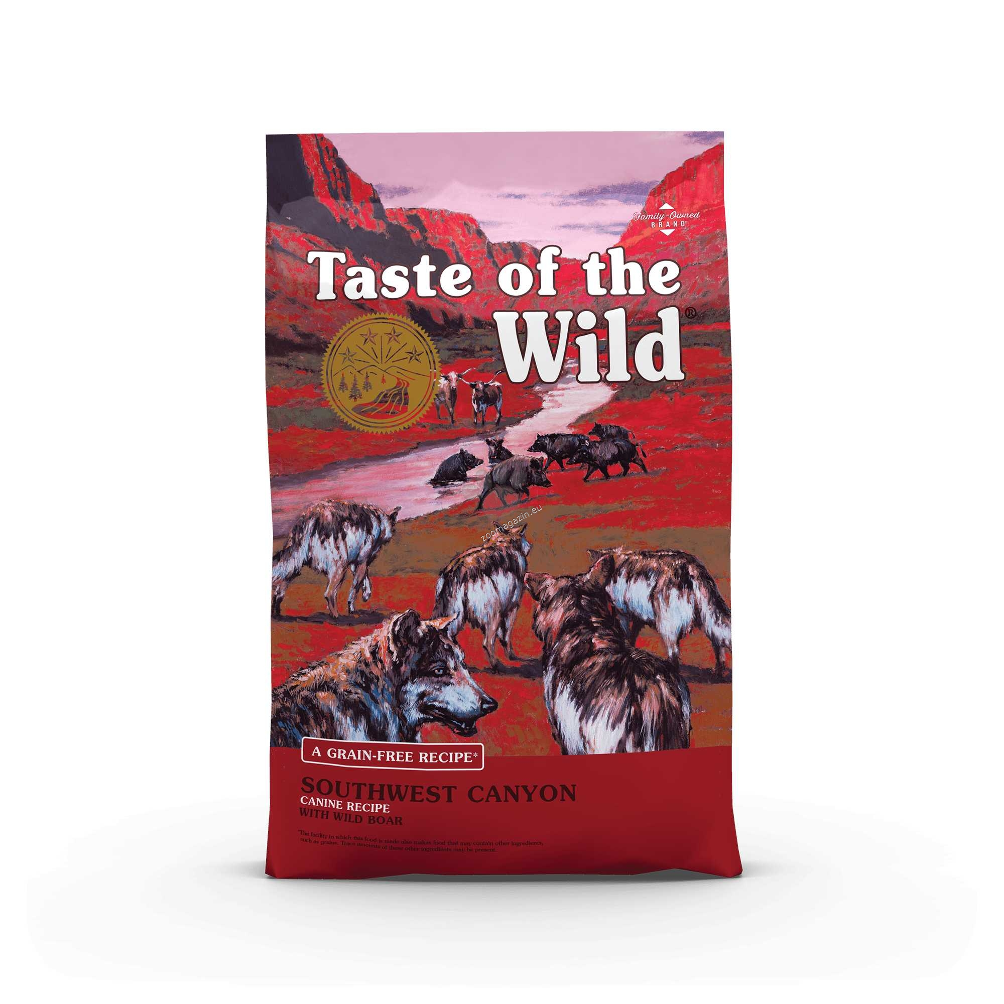 Taste of the Wild Southwest Canyon with Wild Boar - храна за кучета с месо от див глиган 13 кг.