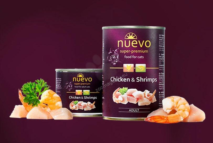 Nuevo Cat Chicken and Shrimps - с пилешко месо и скариди 200 гр.