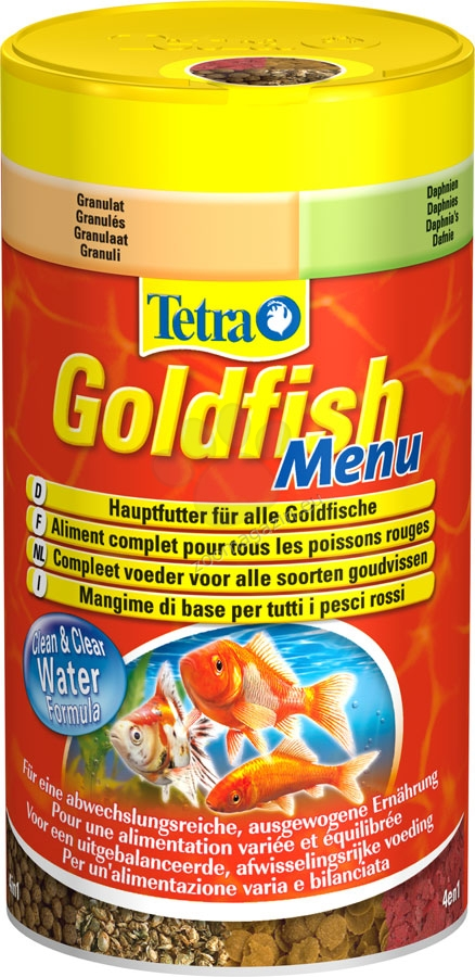 Tetra - GoldFish Menu - четири вида микс храна за златни рибки 250 мл.