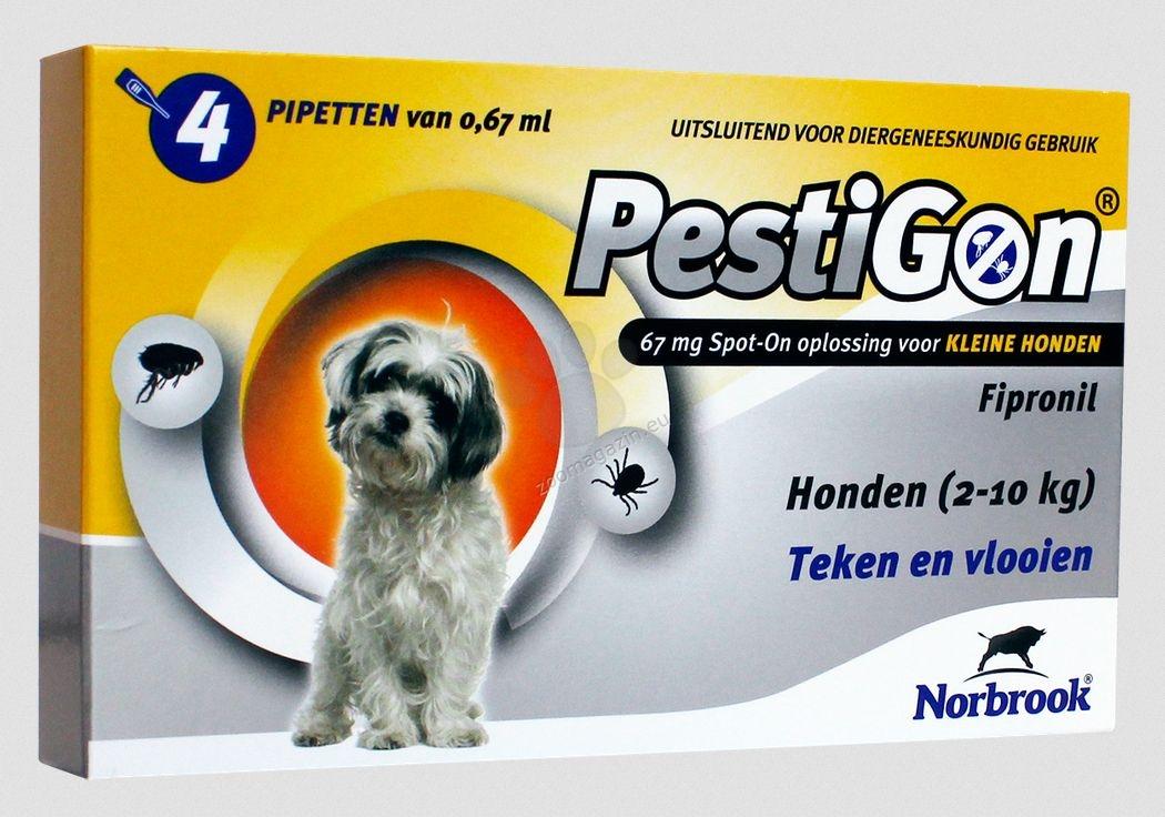Norbrook Pestigon 67 mg spot-on - за кучета с тегло от 2 до 10 кг. / кутия с четири броя пипети /