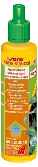 Sera - Flore 3 Vital - подсилваща течна добавка за аквариумни растения 50 мл.