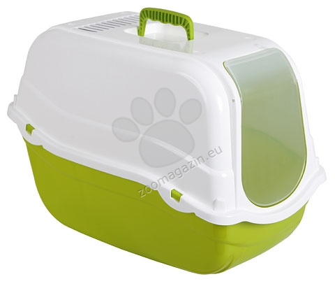 Kerbl Minka - закрита котешка тоалетна с карбонов филтър 57 / 39 / 41 см. / кафяв, зелен /