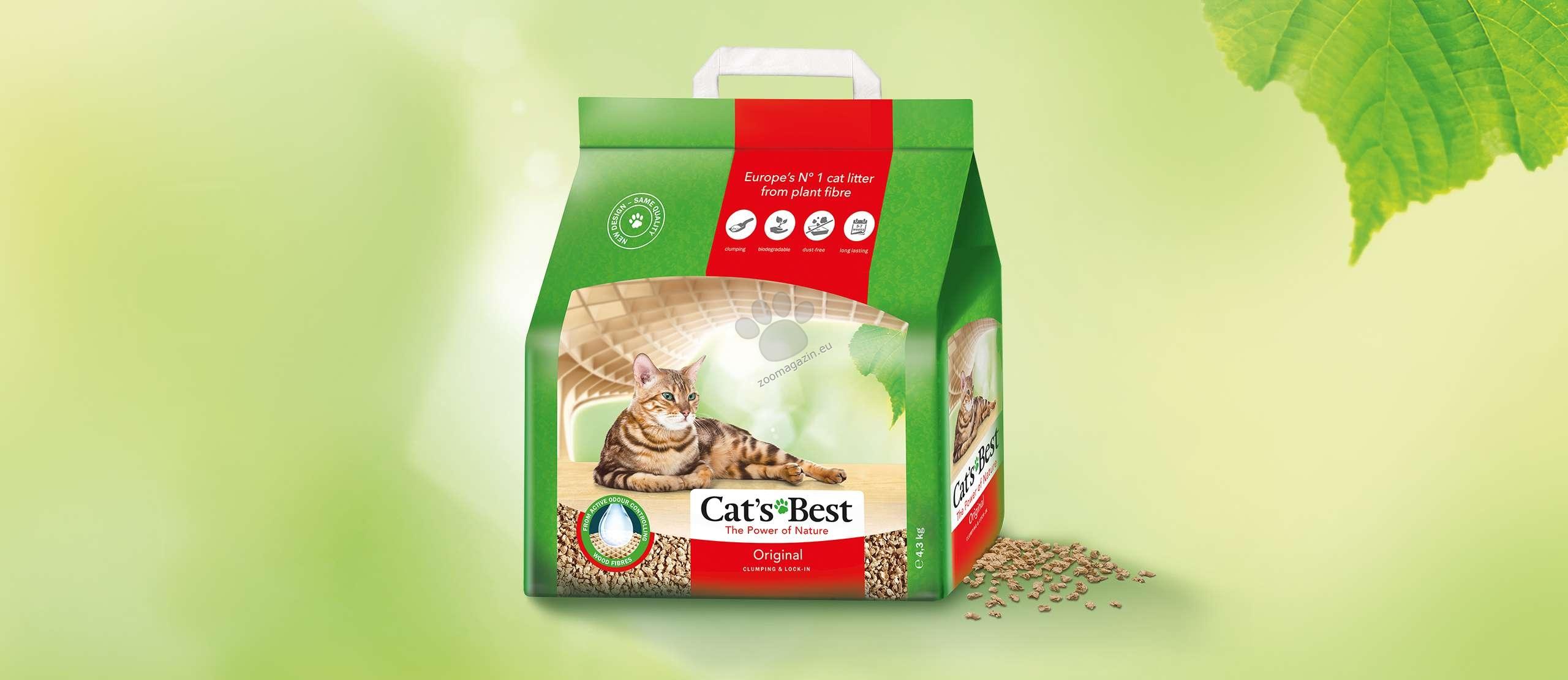 Cats Best Original - натурална котешка тоалетна, без изкуствени и химически агенти, 10 литра