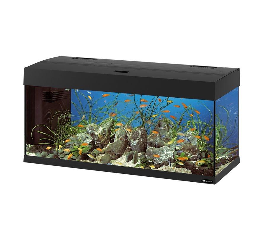 ferplast dubai 100 black fully equipped aquarium 190. Black Bedroom Furniture Sets. Home Design Ideas