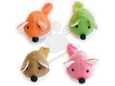 M-Pets GRINGO Foxes Squakers - играчка 35 / 10 см. / оранжева, зелена, кафява, розова /