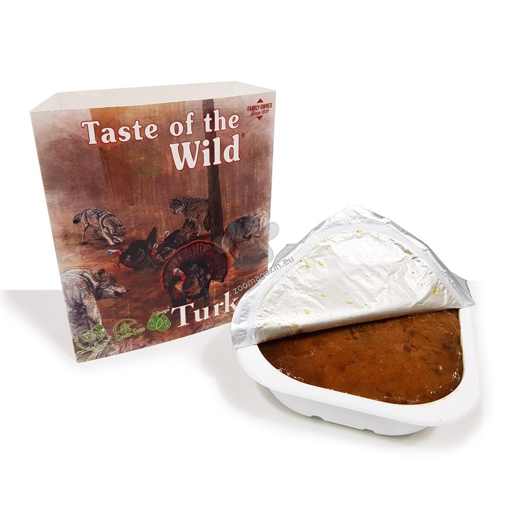 Tаste of the wild Turkey & Duck dog tray- терин за кучета с пуешко и патешко 390 гр. + още един брой ПОДАРЪК