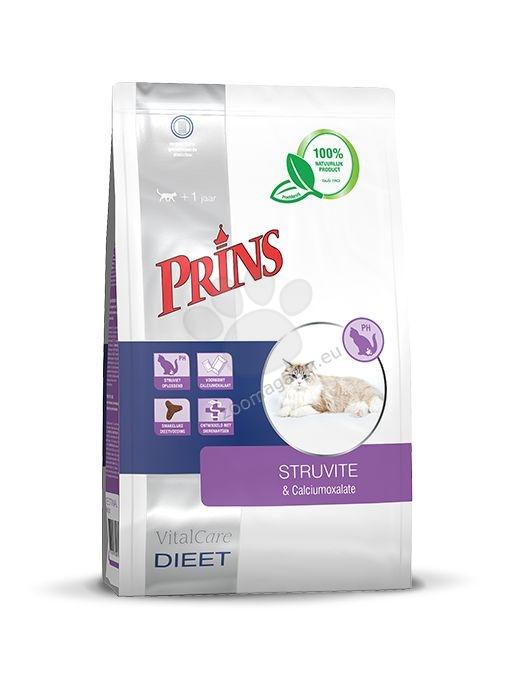 Prins VitalCare diet Struviet & Calciumoxalate - диетична храна за котки, специално формулирана за насърчаване на разпадането на струвитни камъни 5 кг.