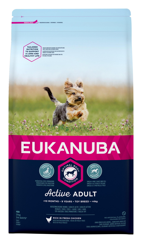 Eukanuba Adult Toy Breed - за кучета малки породи до 4 кг., и възраст над 10 месеца 2 кг.