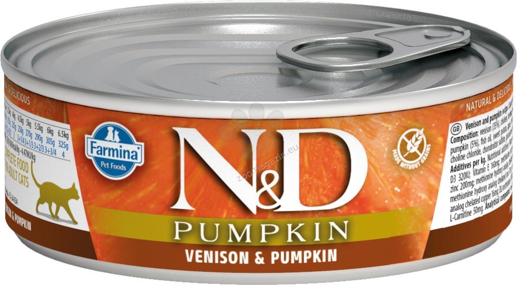 N&D Cat Vension & Pumpkin - с еленово месо и тиква 80 гр.
