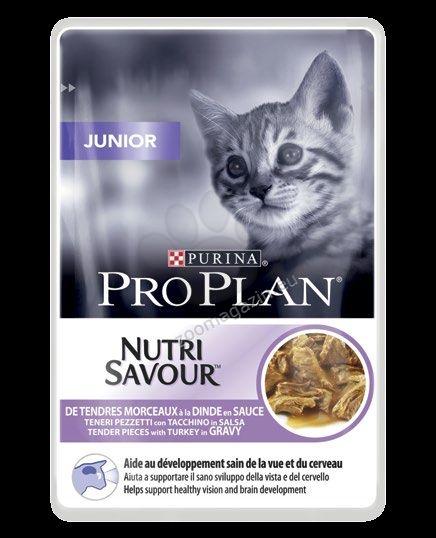 Pro Plan Nutri Savuor Junior - / с пуешко месо в сос / за малки котенца по време на отбиване и растеж 85 грама
