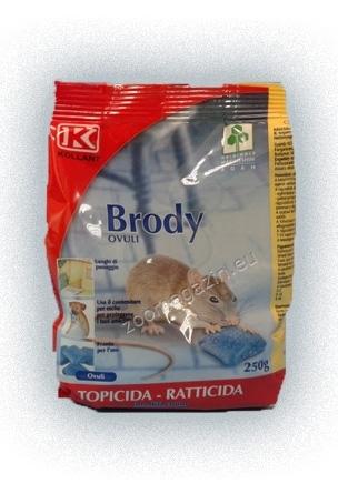 Броди - За контрол на плъхове и мишки на закрито, както и в паркове, сметища и други площи на открито 200 гр.