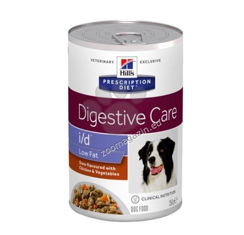 Hills Prescription Diet STEW DOG i/d Low Fat - задушено с пилешко и зеленчуци - панкреатит при кучетата 354 гр.
