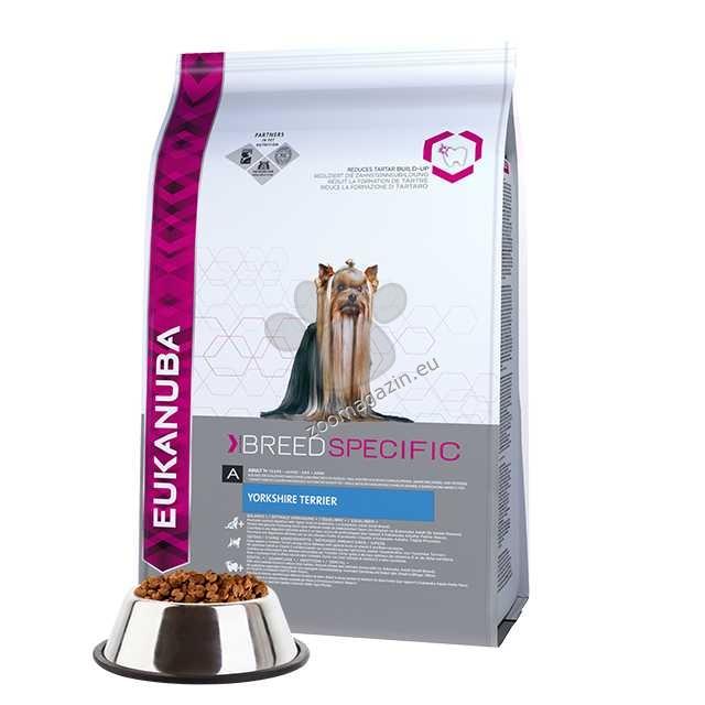 Eukanuba Yorkshire Terrier - за кучета порода Йоркширски териер, Кавалер Кинг Чарлз, Ши цу, Мини пудел  1 кг.