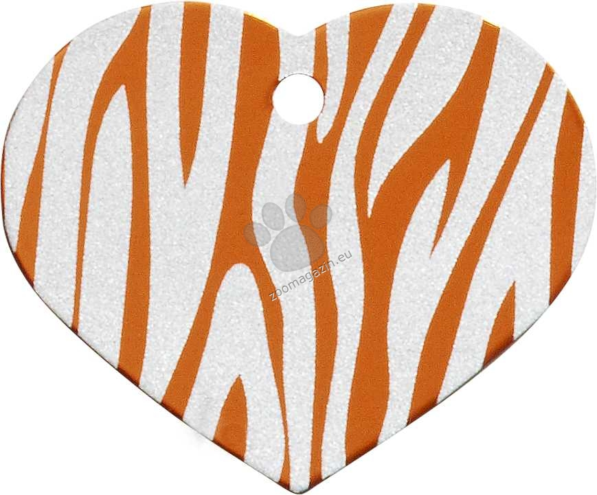 iMARC - Orange Zebra Heart