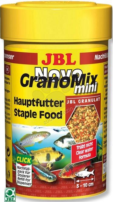 JBL NovoGranoMix mini - храна за малки рибки в общ аквариум  100 мл.