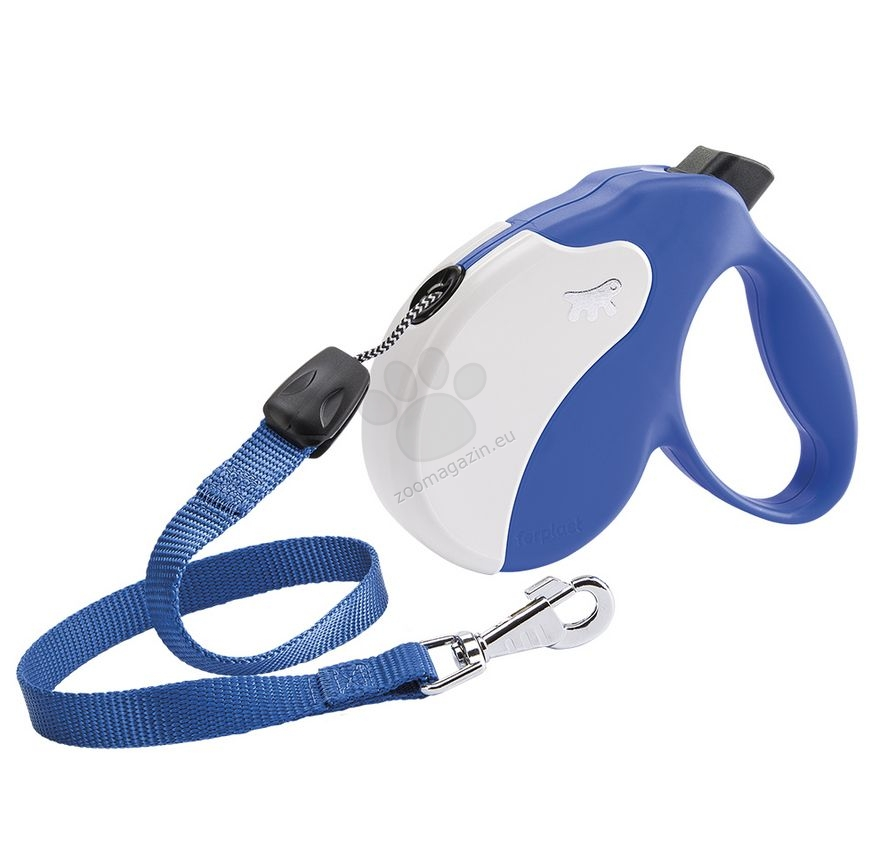 Ferplast - Amigo Cord L Blue White - 5 метра въже, за кучета с тегло до 50 кг.