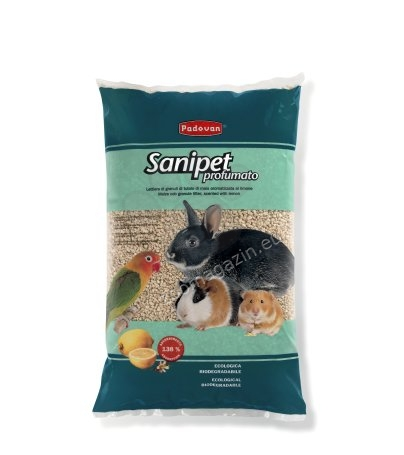 Padovan Sanipet profumato - постелка за гризачи-100% царевични гранули 4 литра